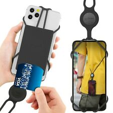 Bone Original Crossbody Lanyard Phone Tie 2 w.Card Holder Universal PhoneCase-BK