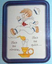 JACK BE NIMBLE, JACK BE QUICK.....COUNTED CROSS STITCH KIT & FRAME