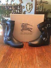 burberry  New Black Rain Boots