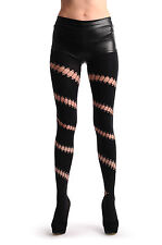 Black With Diagonal Oval Ripped Wrapping Stripe (T000759)