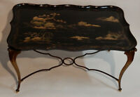 1940/50 Table Basse Plateau Laque de Chine Maison Bagués ,Jansen,Charles,Ramsay,