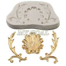 Baroque Vintage Shell Scoll Silicone Fondant Mould Cake Decor Paste Sugarcraft