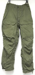 vtg Army OLIVE PROTECTIVE SUIT PANTS LARGE 70s Winfield 1978 green L