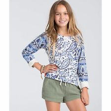 2016 NWT GIRLS BILLABONG HEAR ME OUT PULLOVER CREW SWEATER $40 M chambray