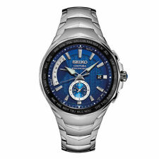Seiko Men's Coutura Radio Sync Solar World Time Stainless Steel Watch SSG019