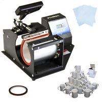 Prensa de Calor  para Tazas PixMax, 72 Tazas y Abrazadera para Tazas de 325ml