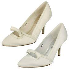 Mujer Anne Michelle Satén Zapatos de Salón Boda