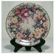 "Collectible Plates""Floral Greetings"" ""Circle of Elegance""Lena Liu"