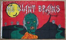 """3'x5' Halloween Zombie Flag Outdoor Indoor Banner """"Me Want Brains"""" Monsters 3X5"""