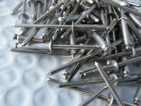 """Box 100 New Rivet King Stainless Steel 1/8"""" Dome Head Blind Rivets Free Ship"""