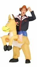 Mens Inflatable Ride On Cowboy Piggyback Fancy Dress Costume Outfit (Large)