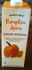 Trader Joe's Pumpkin Spice Almond Milk Almond Beverage 32 FL OZ