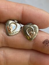 Clogau Mark  Welsh Gold And Sterling Silver Love Heart Gold Rose Earring