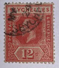 Travelstamps:1922 Seychelles Stamps SG # 108 Used Og, 12d denomination Handst