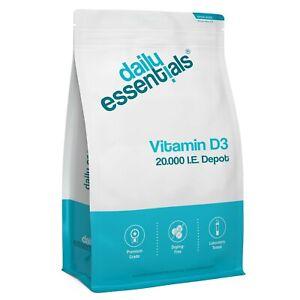 Vitamin D3 20.000 Depot 250-1000 Tabletten - Hochdosiert + Vegetarisch - 20000IE