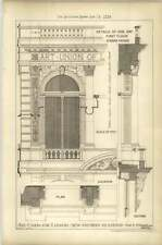 1879 Art Union Of London New Premises 112 Strand, Bay Detail