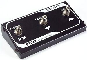 New Digitech FS3X 3-Button Foot Switch