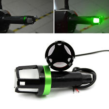 Motorcycle Handlebar Turn Signal Light Grip Bar End LED Strobe Side Marker Light