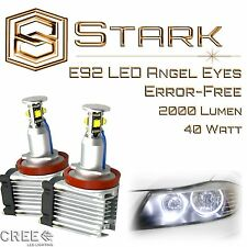 Angel Eyes 40W H8 White HID Xenon 6000k Halo Ring LED Light E92 Coupe 2007-2013