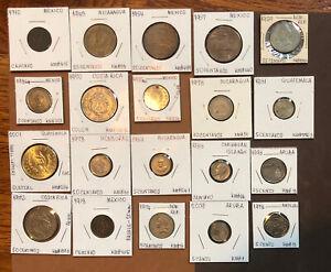 1910-2009-20 Coins-Central America, Coins~Costa Rica,Mexico,Dominican Rep,Aruba