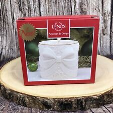 Lenox American by Design Radiant Light Ivory Bow Gold Trim Votive Candle New