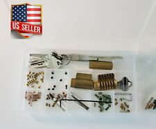All Brass Cutaway Lock Keyway With Spool Pins Locksmith Pin Key Tool Key Kit
