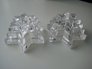 WMF Multi Tier Star of David Crystal Candle Holders