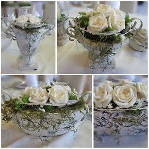 Tischgesteck  Tischdeko Tischdekoration Hochzeit Kommunion Taufe Deko