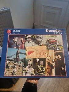 DECADES 1950s -JUMBO 1000 PIECE JIGSAW PUZZLE -  New sealed