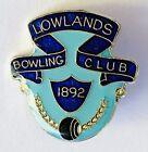 Lowlands Bowling Club Badge Rare Vintage Est 1982 (M13)
