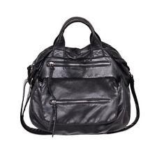 Women Large Slouchy Hobo Bag Soft Washed PU Leather Purse Multi Pocket Handbag