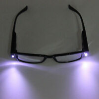 Womens Mens Rimmed Reading With LED Light Black Eye Glasses Eyeglasses Spectacal