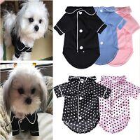 Netter Welpe Pyjama Baumwolle Haustier Hund Katze Warme Indoor-Kostüm Kleidung