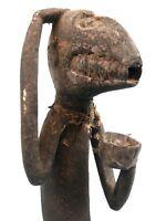 Arte Africano Arti Primo - Scimmia Mendicante Mbotumbo Baule Baule - 49 CMS