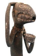 Art Africain Arts Premiers - Singe Mendiant Mbotumbo Baoulé Baule - 49 Cms +++++