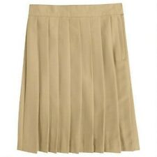 Khaki Tan Pleated Skirt French Toast Official School Uniforms Girls 18 1/2 New
