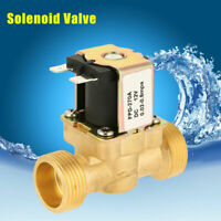 """3/4"""" DC 12V Electric Solenoid Valve Air Water Gas Brass N/C Normal  Valve"""