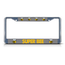 SUPER BEE Metal License Plate Frame Tag Border Two Holes