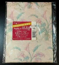 Vintage American Greetings Wedding Iridescent Wrapping Paper 1 Sheet 8.33 Sq Ft