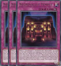 Yugioh - 3x Necrovalley Temple SOFU-EN068 Rare - 1st Ed - NM/M