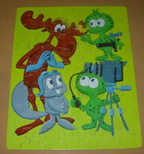 WHITMAN  ROCKY AND BULLWINKLE PUZZLE #302  C. 1960  BOXED  ALIENS