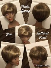 """New! Paula Young Wig """"Kim"""" Color Buttered Toast Size Average New W/ Tags!"""