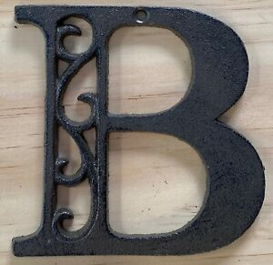 Letter B - Cast Iron Ornate Rustic House Craft Victorian Scroll Alphabet Letters