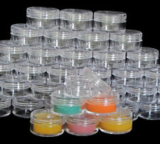 500 Cosmetic Jars Empty 10 Gram Plastic Beauty Containers Clear Lids 10 Ml .5067
