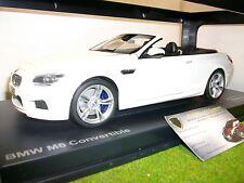 BMW M6 F12M CABRIOLET blanc LHD 1/18 PARAGON PA - 97061 voiture miniature collec
