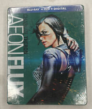 New Aeon Flux Charlize Theron Blu-Ray + Dvd + Digital Code + Steelbook Cover