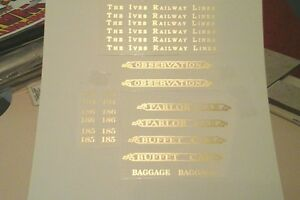 IVES PRE-WAR STANDARD SCALE 184-185-186 GOLD METALLIC WATER DECAL W/SERIF LOOK!
