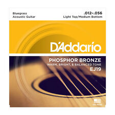 D'Addario EJ19 Phosphor Bronze Acoustic Guitar Strings; bluegrass gauge 12-56