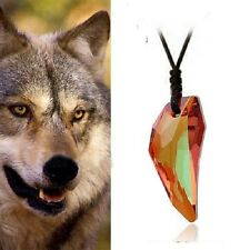Made With SWAROVSKI ELEMENTS CRYSTAL Wolf Teeth Tooth Long RED NECKLACE