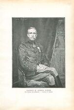 Portrait du Général Albert d'Amade par Lucas-Robiquet GRAVURE ANTIQUE PRINT 1913